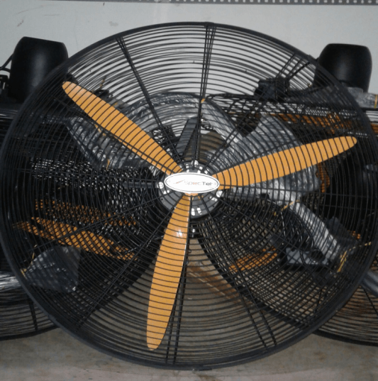WALL FAN BLADE ORANGE